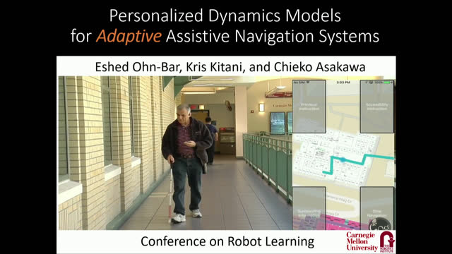 Personalized Dynamics Models for Adaptive Assistive Navigation